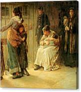 Newgate Committed For Trial, 1878 Canvas Print