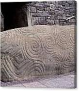 Newgrange Entrance Kerb Canvas Print