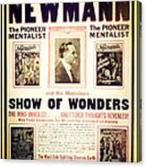 Newmann And His Show Of Wonders  Canvas Print