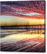 Newport Beach Pier Sunset Canvas Print