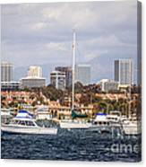 Newport Beach Skyline  Canvas Print
