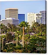 Newport Beach Skyline Picture Canvas Print