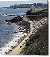 Newport's Cliff Walk View Canvas Print