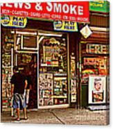 News And Smoke - Play Here Canvas Print
