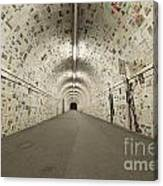 News In The Tunnel Canvas Print