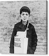 Newspaper Boy Canvas Print