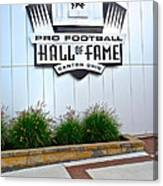 Nfl Hall Of Fame Canvas Print