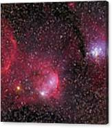 Ngc 3293, The Gem Cluster And Gabriela Canvas Print