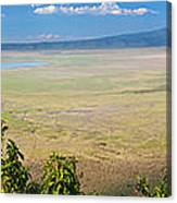 Ngorongoro Crater In Tanzania Africa Canvas Print