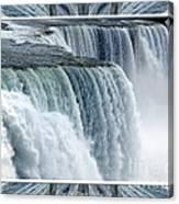 Niagara Falls American Side Closeup With Warp Frame Canvas Print