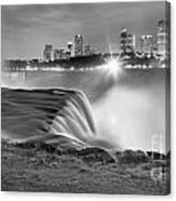Niagara Falls Black And White Starbursts Canvas Print
