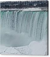 Niagara Falls Canada In Winter Canvas Print
