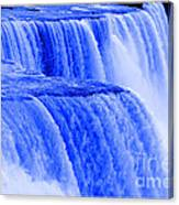 Niagara Falls Closeup In Blue Canvas Print