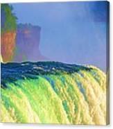 Niagara Falls In Abstract Canvas Print