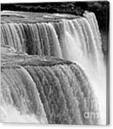Niagara Falls In Black And White Canvas Print