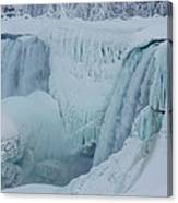 Niagara Falls Usa In Winter Canvas Print