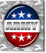 Nice Army Shield 2 Canvas Print