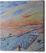Nice French Riviera Beach Shower Canvas Print