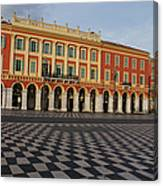 Nice France - The Cheerful Colors Of Place Massena Canvas Print