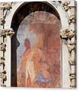Niche Fresco In Real Alcazar Of Seville Canvas Print