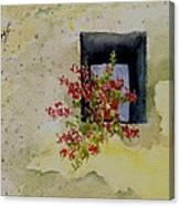Niche With Flowers Canvas Print