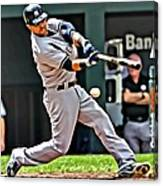Nick Swisher Painting Canvas Print