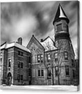 Nicolet School In Black And White Canvas Print