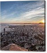Niebla En Alicante Canvas Print