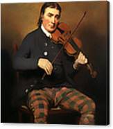Niel Gow - Violinist And Composer Canvas Print