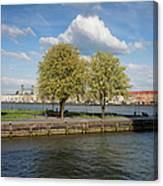 Nieuwe Maas River Waterfront In Rotterdam Canvas Print