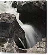 Nigel Creek Waterfall Detail Canvas Print