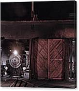 Night At The Durango Roundhouse Canvas Print