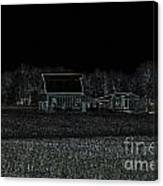 Night Barns Canvas Print