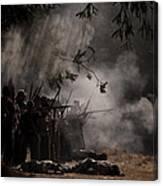 Night Battle Canvas Print