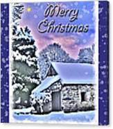 Christmas Card 28 Canvas Print