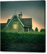 Night Cottage Canvas Print