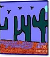 Night Desert Canvas Print