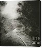 Night Driving On The Bells Line Of Road Canvas Print