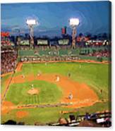 Night Fenway Pop Canvas Print