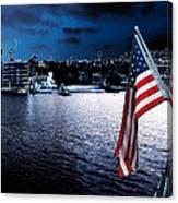 Night Flag Canvas Print