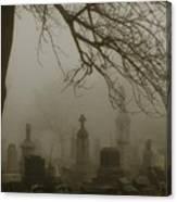 Dark Rolling Night Fog Canvas Print