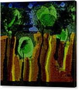 Night Forest Tapestry Canvas Print