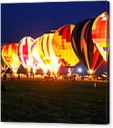 Night Glow Hot Air Balloons Canvas Print