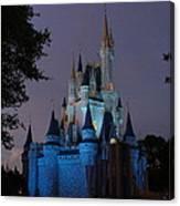Night Illuminates Cinderella Castle Canvas Print