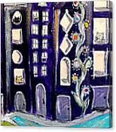 Night Kittyscape Canvas Print