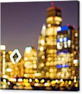 Night Lights - Abstract Chicago Skyline Canvas Print