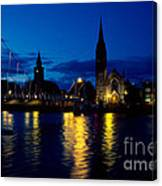Night Lights In Inverness Canvas Print