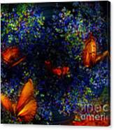 Night Of The Butterflies Canvas Print