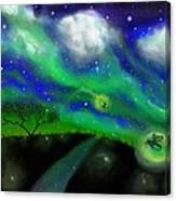 Night Of The Fireflies Canvas Print