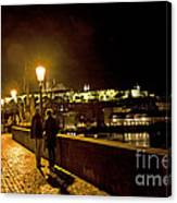 Night On The Charles Bridge Canvas Print